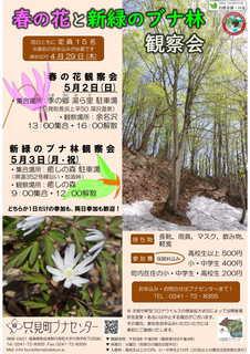 春の観察会「春の花と新緑のブナ林観察会」チラシ.jpg